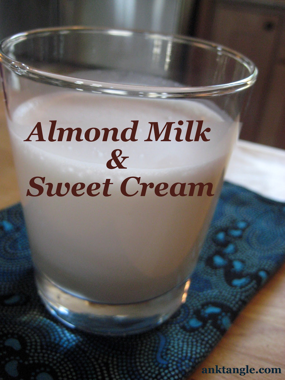 how to make almond cream from almond milk