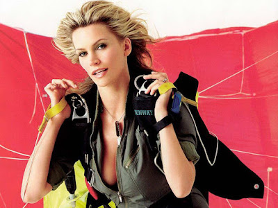 Natasha Henstridge in Beautiful Skydiver Photo Shoot