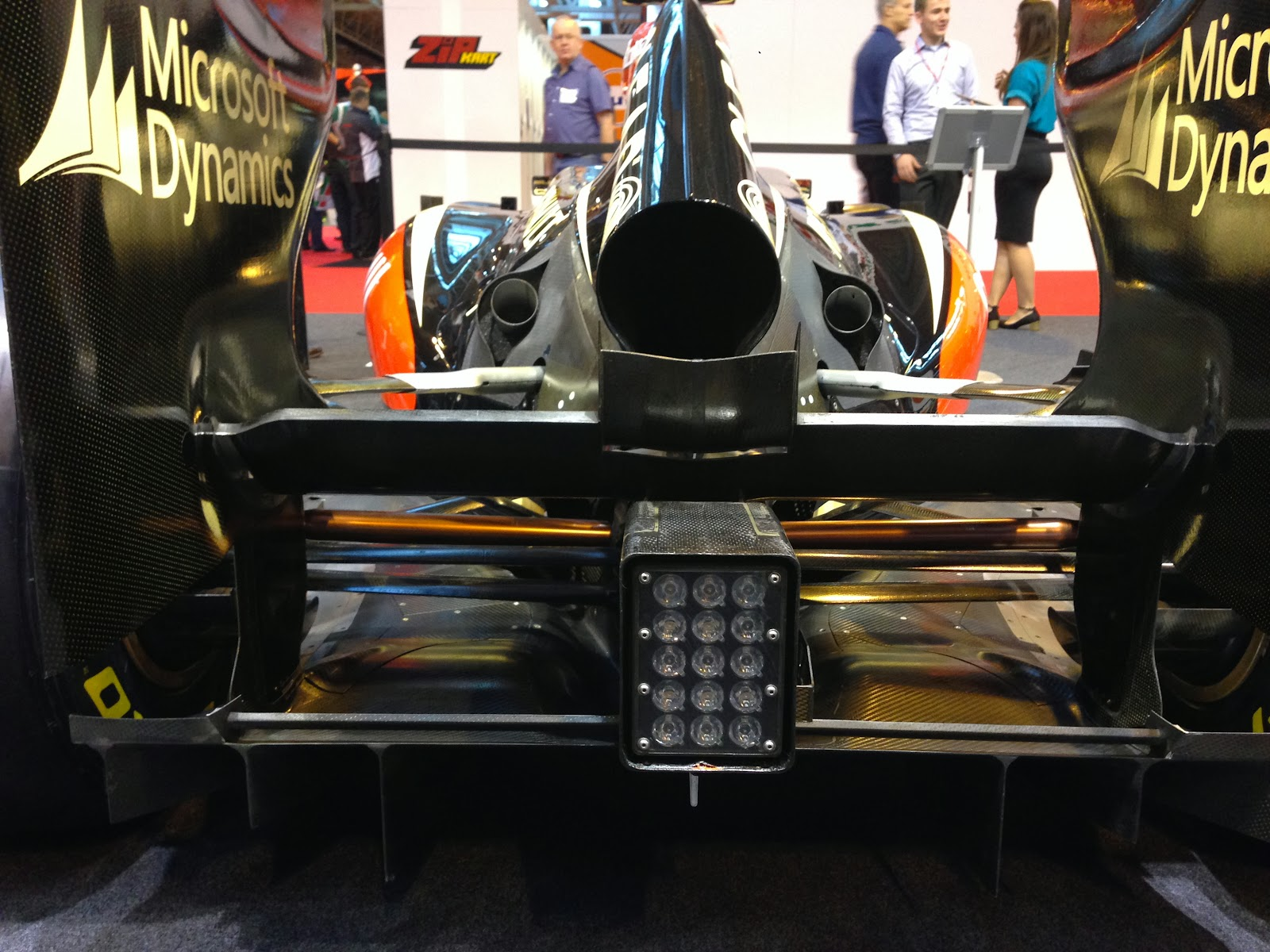 Lotus F1 car rear end