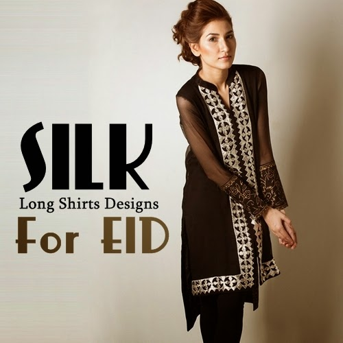 Luxury Silk Shirts Designs for Eid 2014