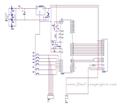 microcontroller college automation system circuit diagram