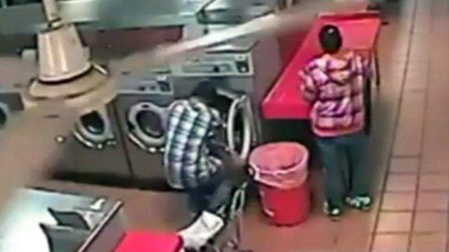 baby put in washing machine
