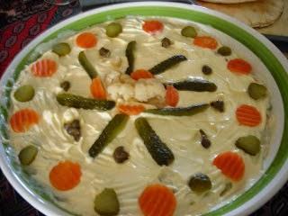 insalata  russa con maionese fatta  a mano