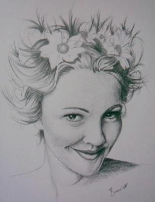 Actriz de Drew Barrymore en retrato
