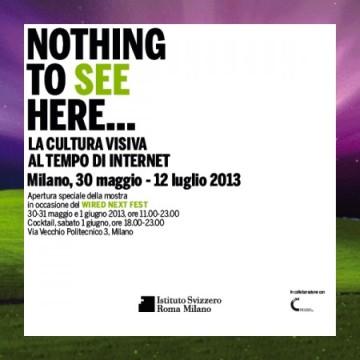 Mostra Nothing to see here al Istituto Svizzero sede di Milano