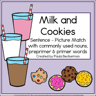 https://www.teacherspayteachers.com/Product/Milk-and-Cookies-Sentence-Picture-Match-1658319