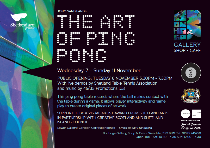 The Art of Ping Pong Invite