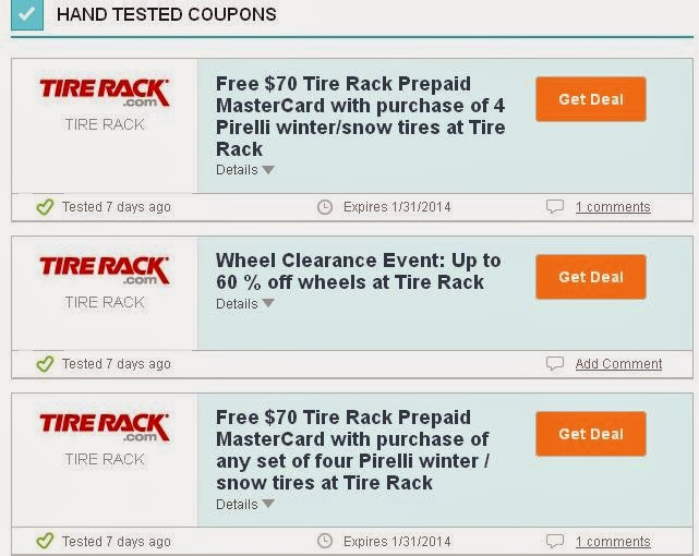 Tires discount coupons