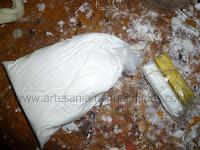Uniendo cerámica en frio y masilla epóxica (duropox)