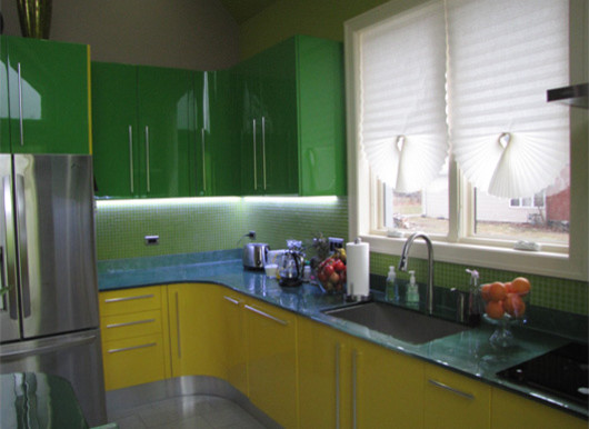 Contemporary Kitchen Lacquered High Gloss Airone Torchetti: Economy Paint Supply: It's All About The GLOSS
