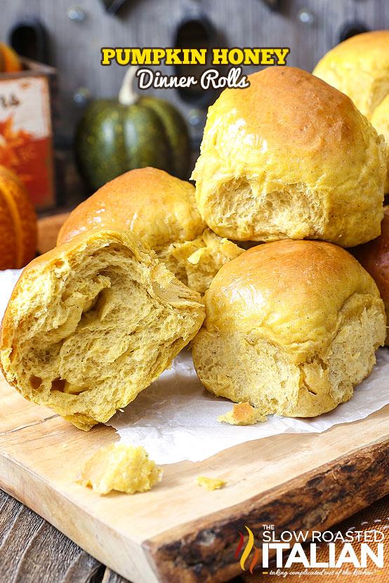 http://www.theslowroasteditalian.com/2015/11/pumpkin-honey-dinner-rolls-recipe.html