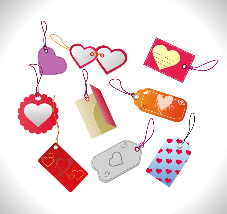 バレンタインデー 販促セール タグ Valentines Day Sales Tags イラスト素材