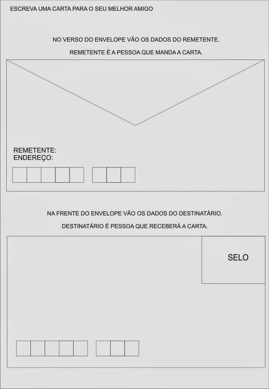 Atividades para EJA alfabtização - Escreva uma Carta
