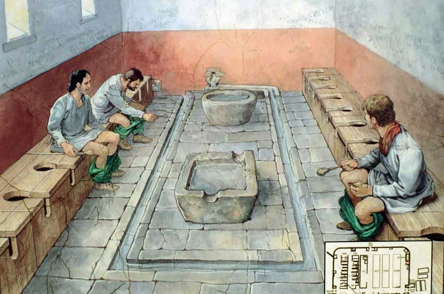 Baños Romanos Historia:Military Latrine Toilet