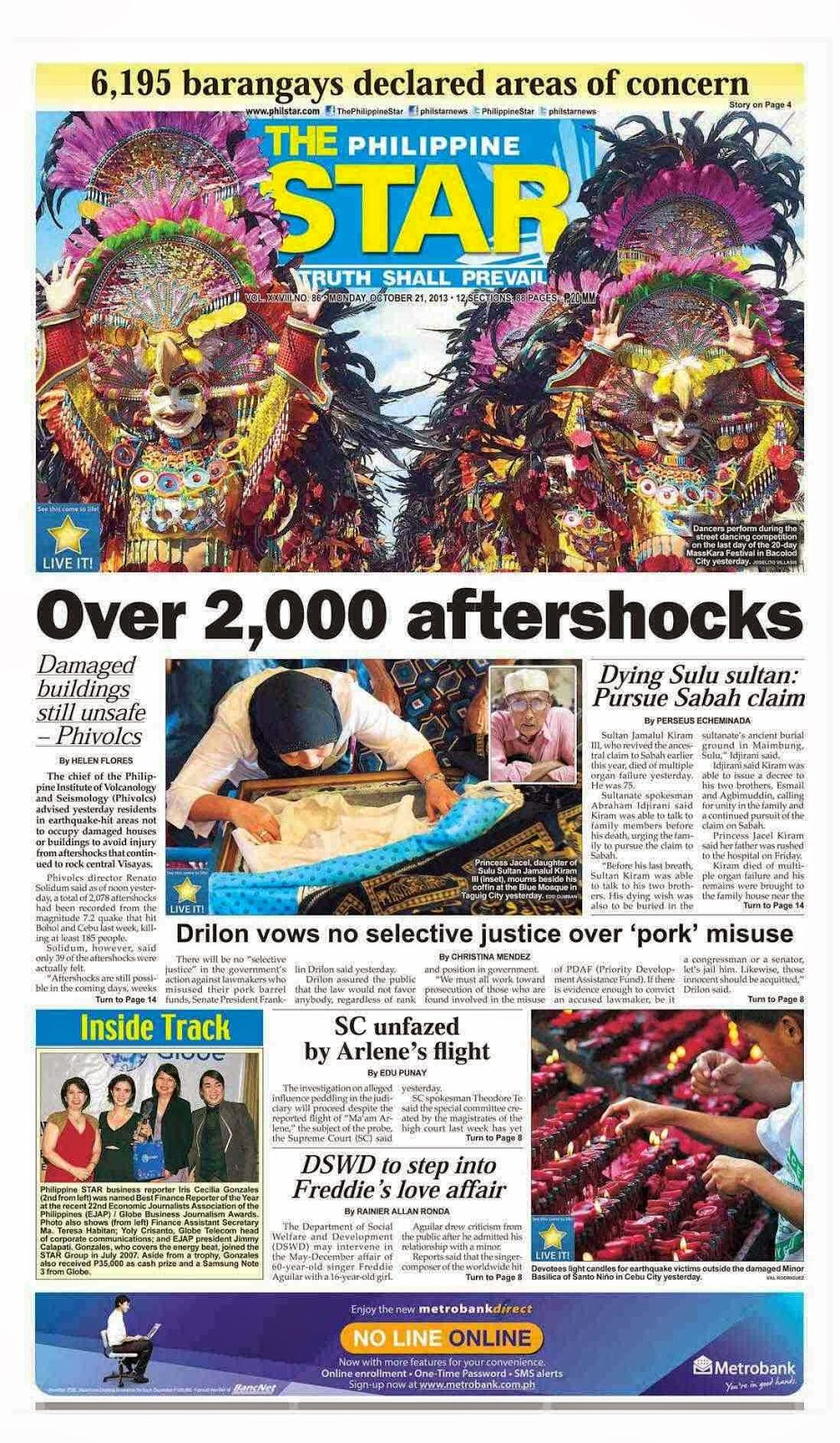 Philippine Star Newspaper Headlines