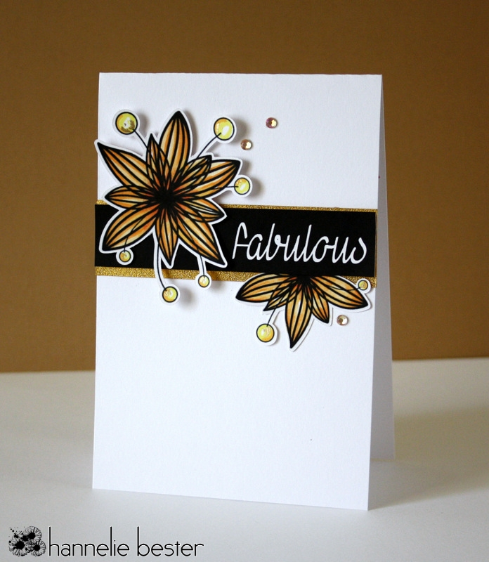 flower card in Autumn colors