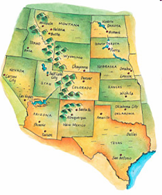 Mr Hutchins Classroom - Map of us rocky mountains