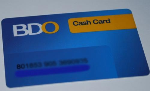 BDO cash card 2 pesos withdrawals fee