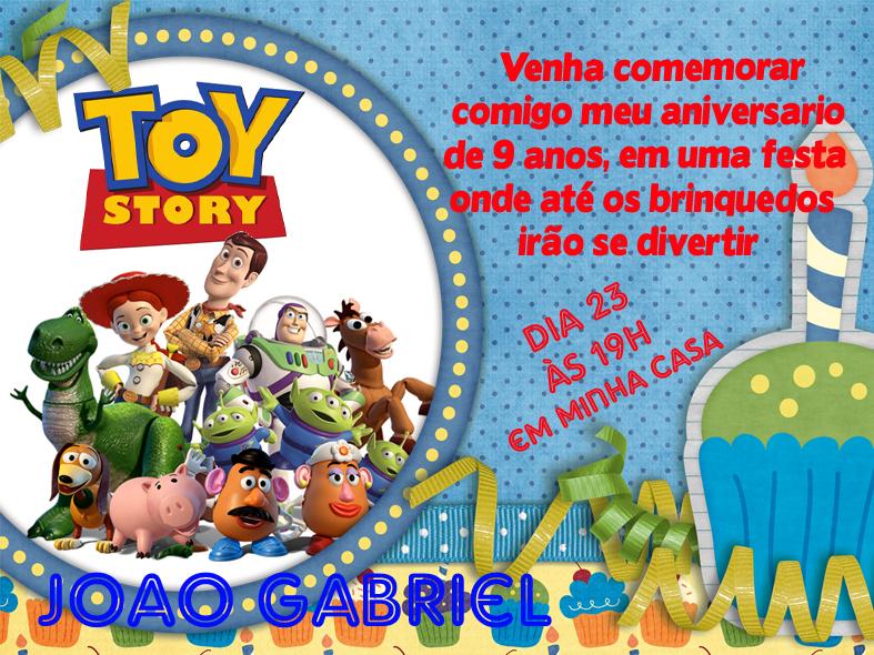 Convite De Aniversario Toy Story