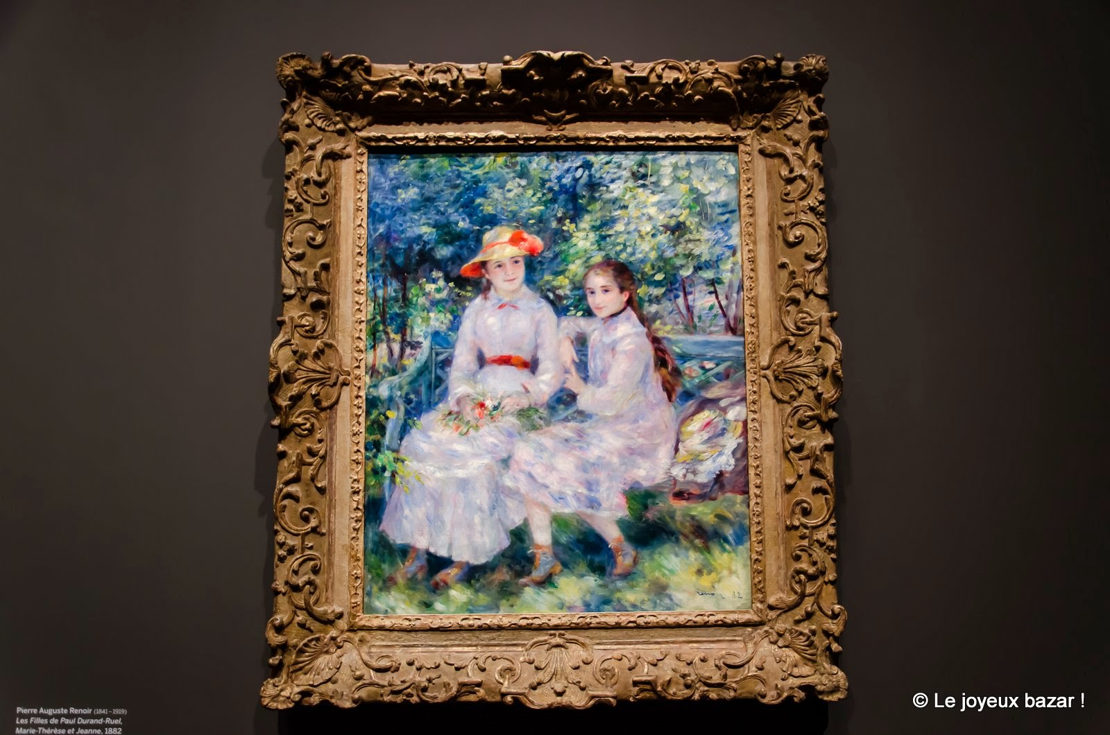 Pierre-Auguste Renoir Marie-Thérèse et Jeanne Durand-Ruel 1882 Huile sur toile, 81,3 x 65,4 cm Norfolk, The Chrysler Museum of Art