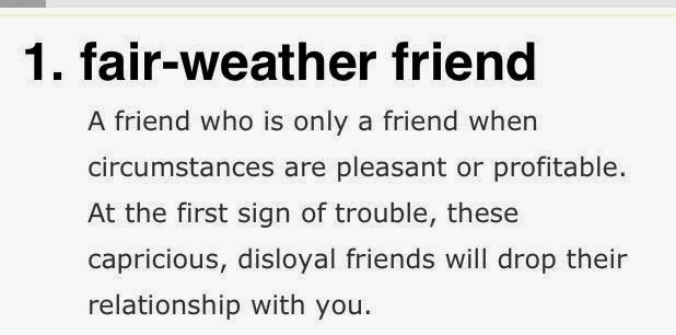 A Bountiful Love How To Deal With Fair Weather Friends