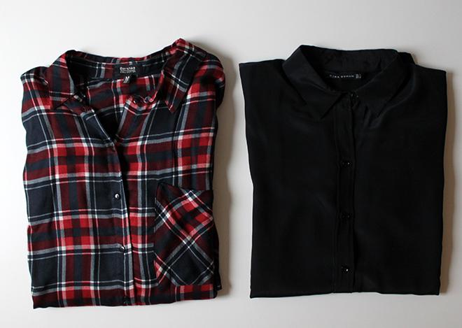 outfit trend fashionblogger newin zara tartan kariert Bluse Seidenbluse schwarz