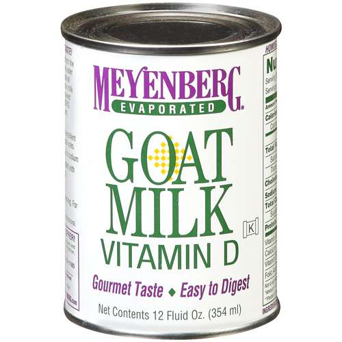 Canned goats milk