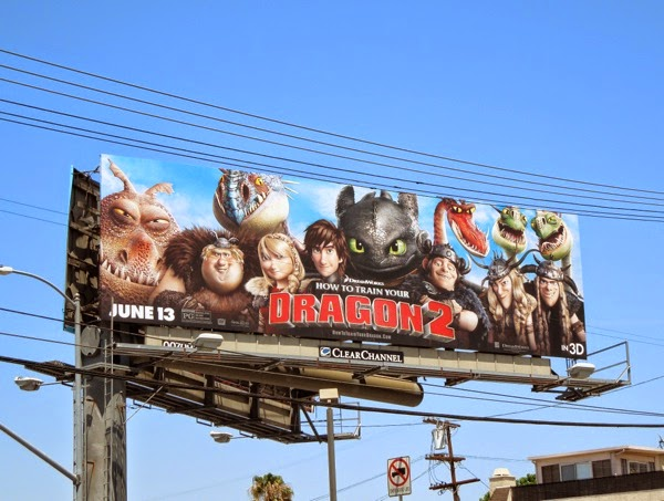 How to Train Your Dragon 2 film billboard