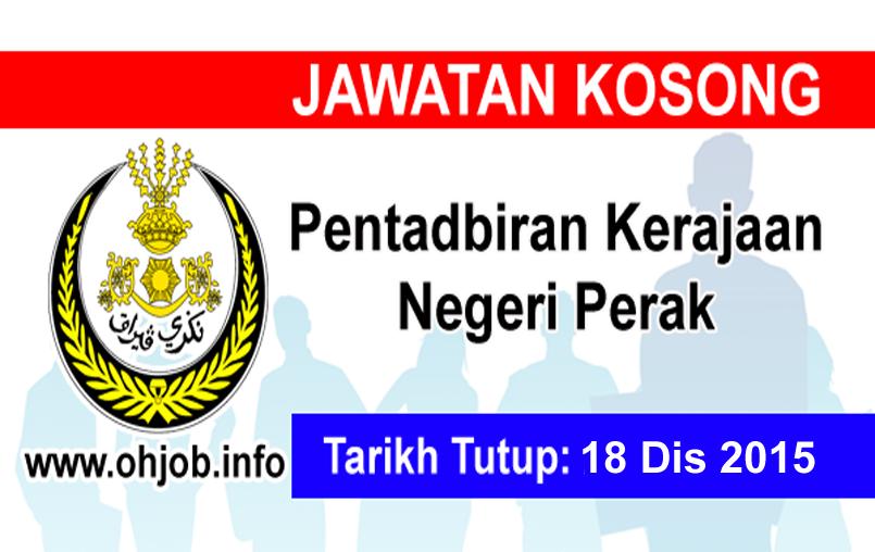 Jawatan Kerja Kosong Suruhanjaya Perkhidmatan Awam Negeri Perak (SPAPerak) logo www.ohjob.info disember 2015