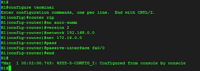 konfiurasi RIPv2 pada Router R1