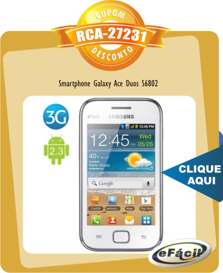 Smartphone Samsung Galaxy Ace Duos S6802