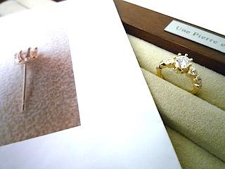 お気に入りのピアスに合わせたオーダー婚約指輪(エンゲージリング)は宝物になった。