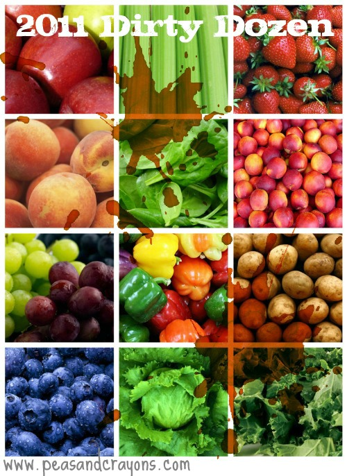 dirty dozen fruits veggies photo guide 2011