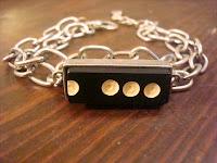 Domino Metal Chain Bracelet by hotGlued