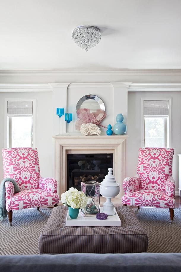 Stacy Charlie: Living Room Inspiration - Hot Pink Living Room Chair - Palatok.net
