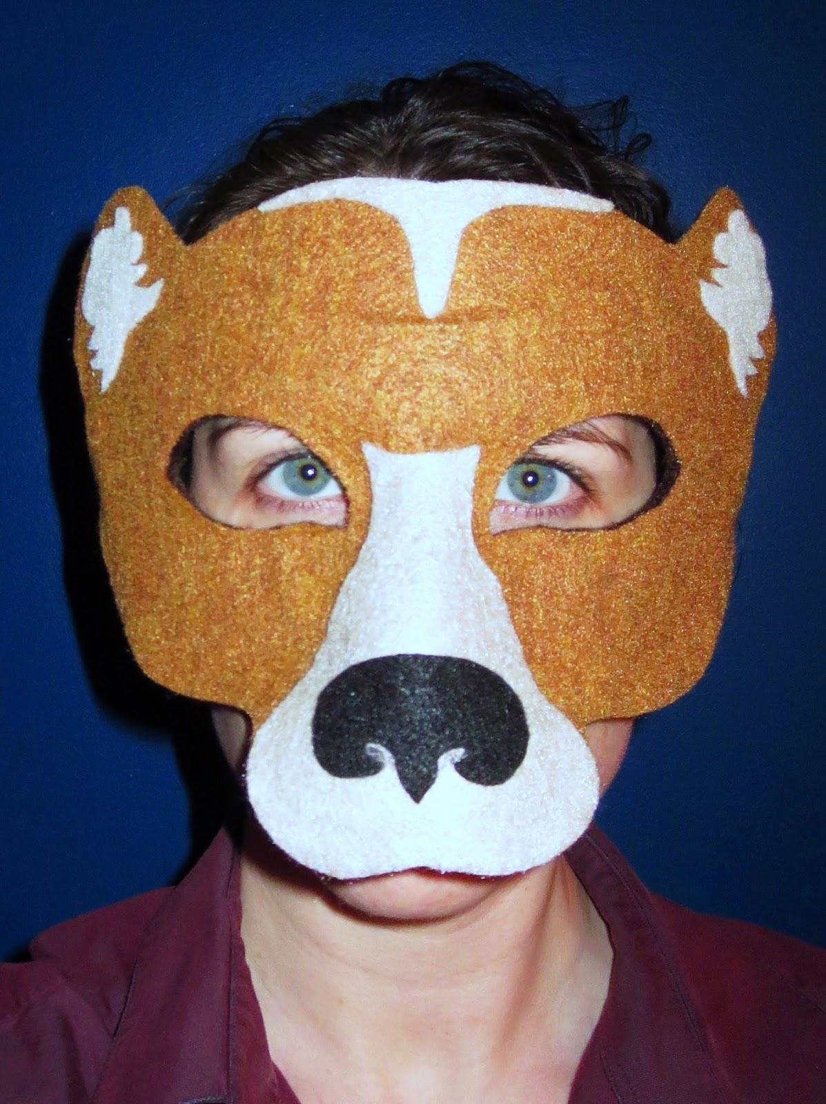 DIY Felt Bear Mask