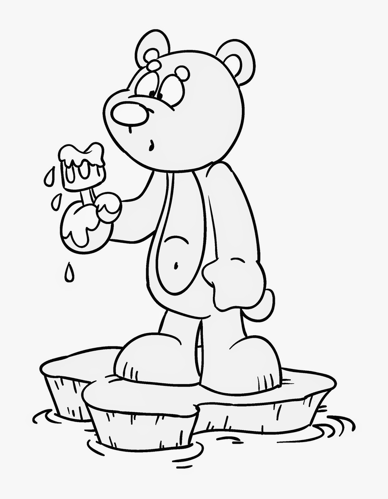 global warming pages coloring pages