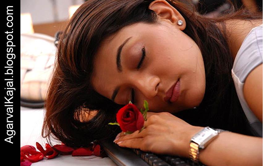 sleeping beauty kajal agarwal actress from south india indian actress ...