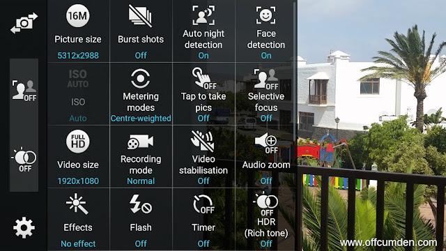 camera options S5