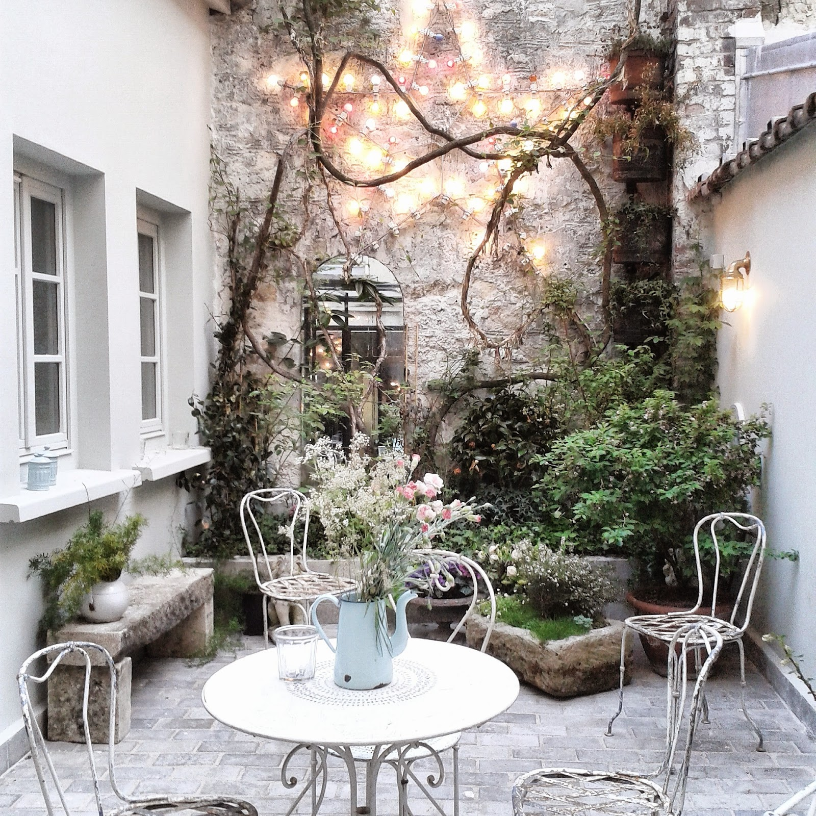 Hôtel Henriette Paris / Photos Atelier rue verte / Le patio