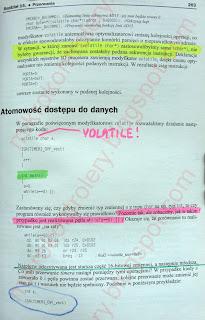 Przykład notatek w książce papierowej.