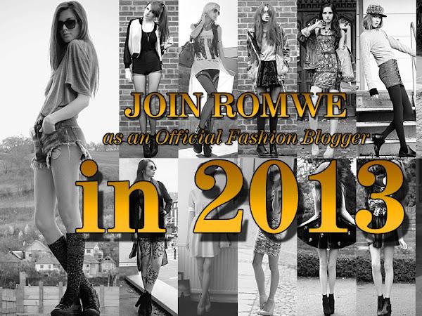 Romwe Resmi Moda Bloggerları 2013'e Katıl 130$ Hediye Çeki Kazan!
