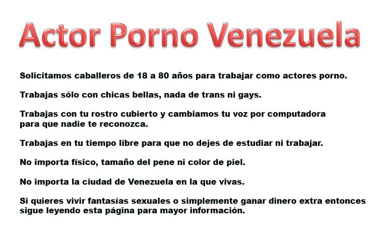 Actor Porno Venezuela