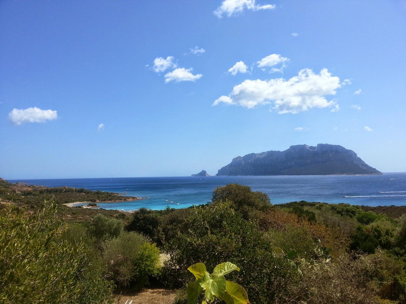 Vista sull'isola di Tavolara da Porto Istana