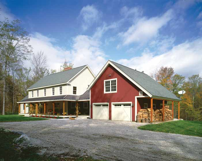 Built In Vermont, This Farmhouse Features A Welcoming Porch And An