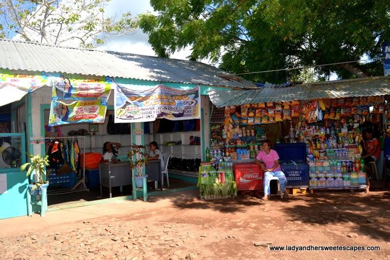 rental stalls at Honda Bay Port in Puerto Princesa