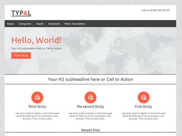 TYPAL - free minimal & Creative WordPress theme