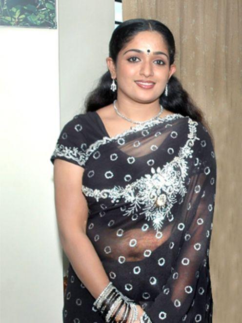 Karthika Nair Hot Navel In Saree kavya madhavan c...