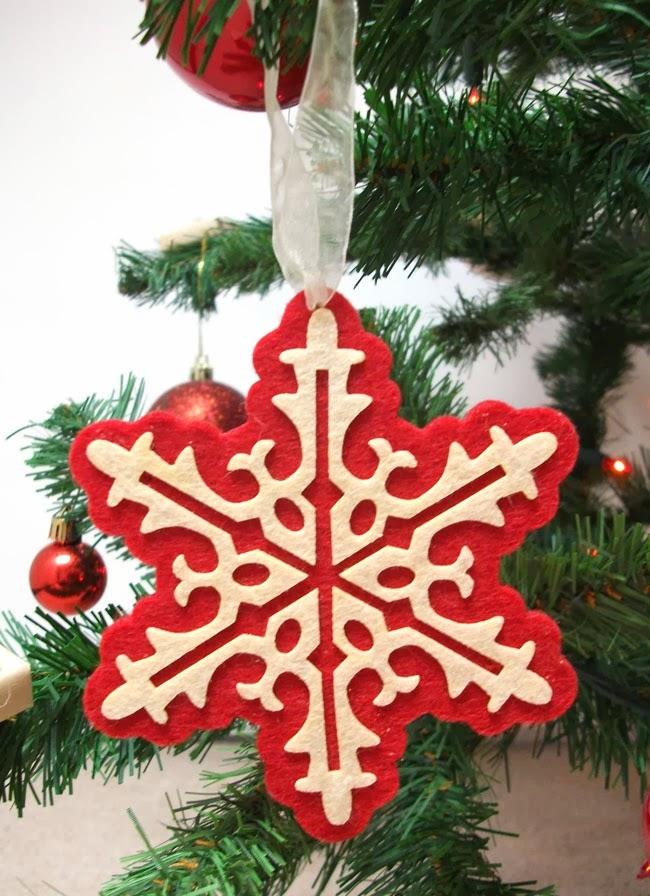 snow flake christmas ornament