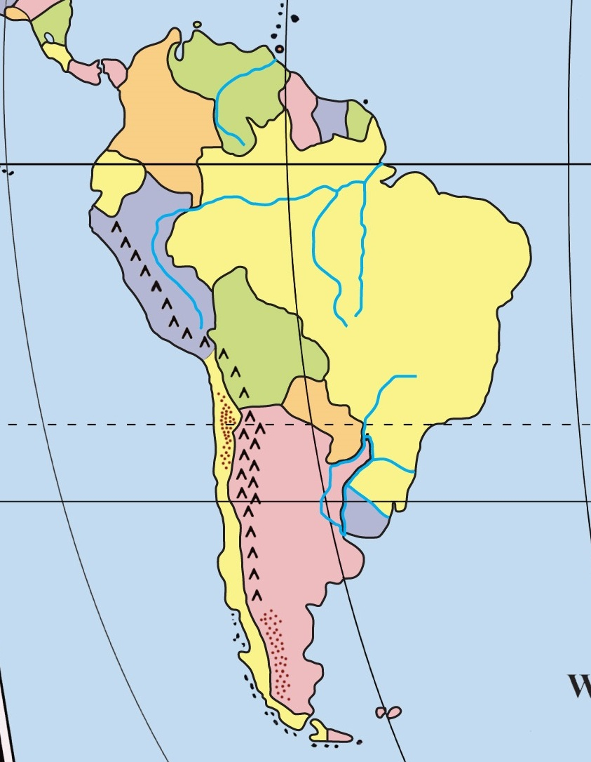 South America map test is